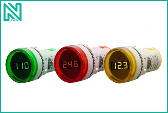 چراغ سیگنال های ولتمتر گرد DC برند JBH